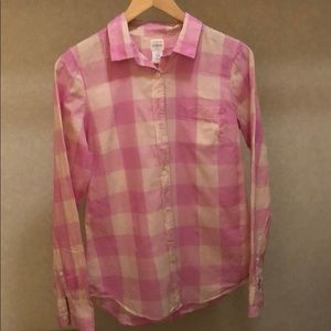 100% cotton pink shirt by J Crew